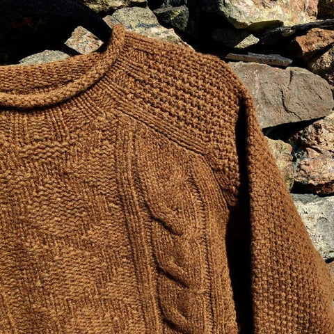 Chunky Roll Neck Sweater - Pecan