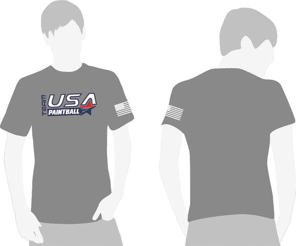 Team USA Paintball T-Shirt - Athletic Gray