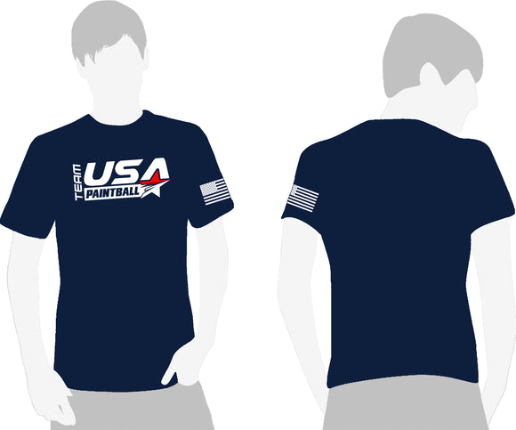 Team USA Paintball T-Shirt - Navy