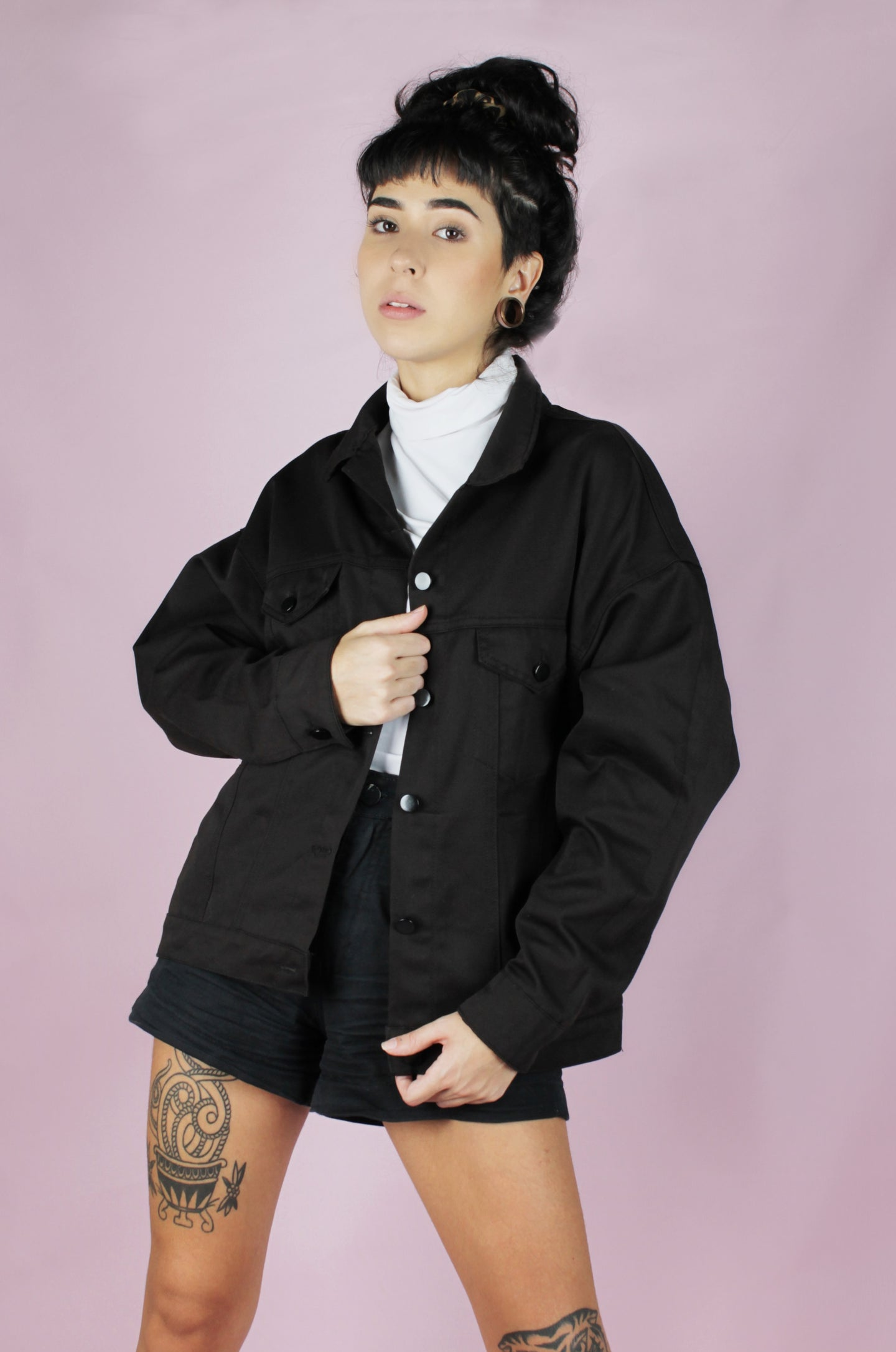OFF Jaqueta Black Oversized