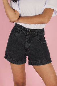 Shorts Mom Jeans Grafite