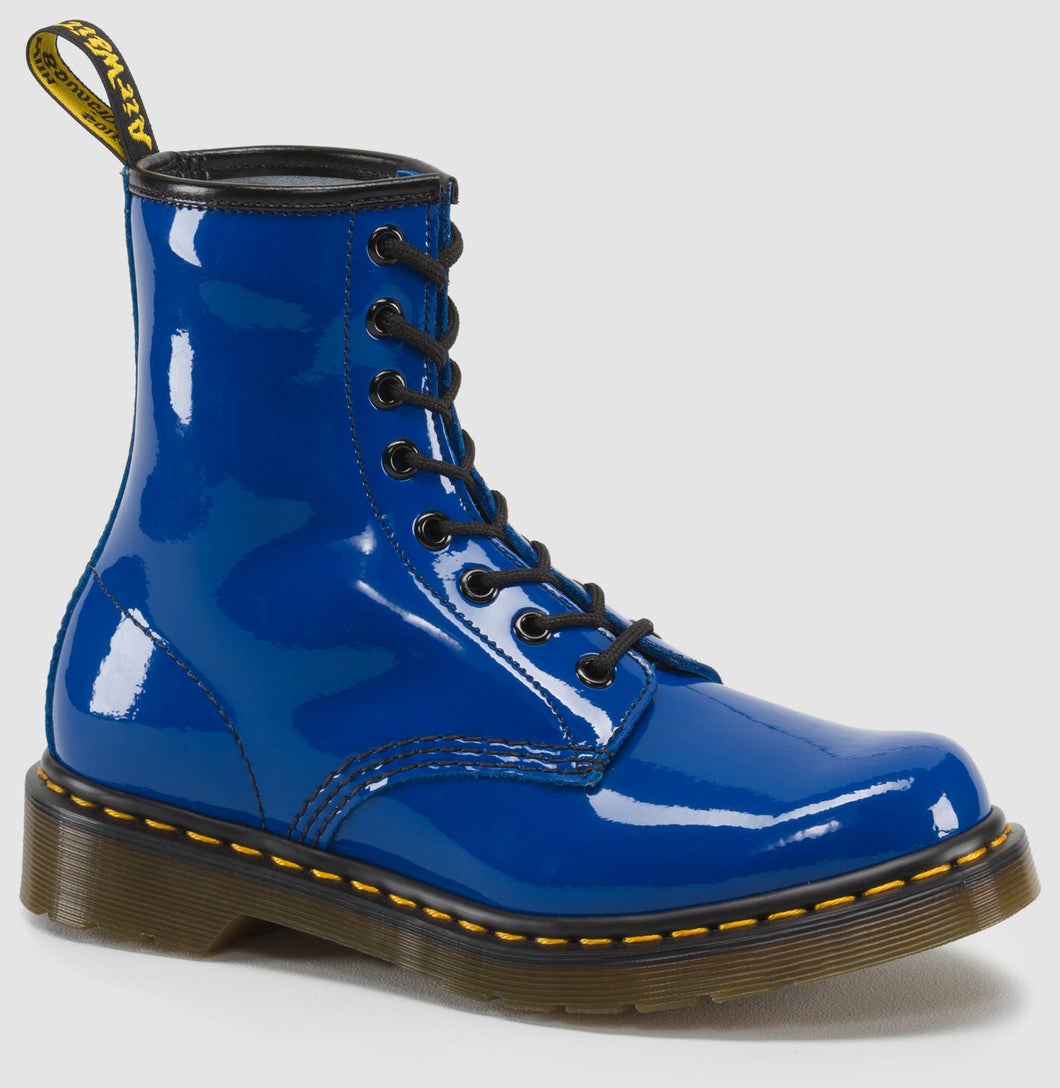 1460 Patent Leather Boot (royal blue)