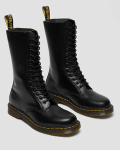 1914 Smooth Leather Tall Boots (blk)
