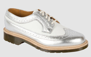 3989 Brogue - Made in England (silver & white)