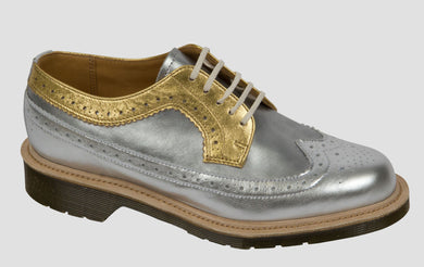 Gold & Silver Brogue - Made in England