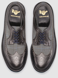 3989 Pewter & Grey Brogue - Made in England