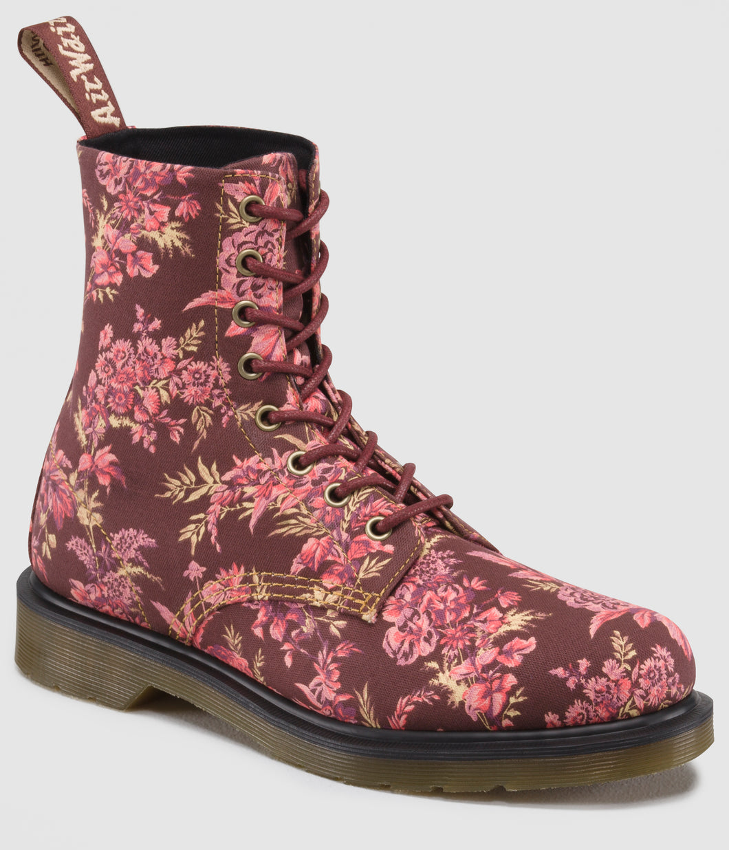 1460 Beckett Floral Canvas (red rouge)