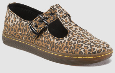 Woolwich Mary Jane Canvas (leopard print)