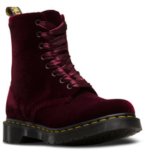 Load image into Gallery viewer, 1460 Pascal Velvet Boot (cherry red)