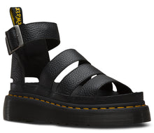 Load image into Gallery viewer, CLARISSA LEATHER PLATFORM SANDAL (blk)
