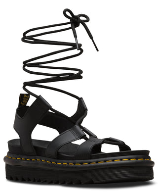 Nartilla Leather Gladiator Sandal (blk)