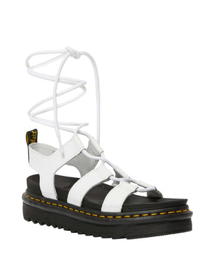 Nartilla Leather Gladiator Sandal (wht)