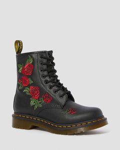 1460 VONDA FLORAL LEATHER LACE UP BOOTS