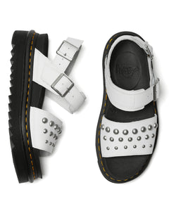VOSS LEATHER STUDDED SANDALS