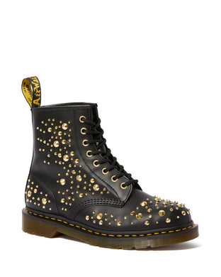 1460 MIDAS SMOOTH Gold Studded Boots