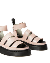 Load image into Gallery viewer, CLARISSA ll METALLIC LEATHER PLATFORM SANDAL