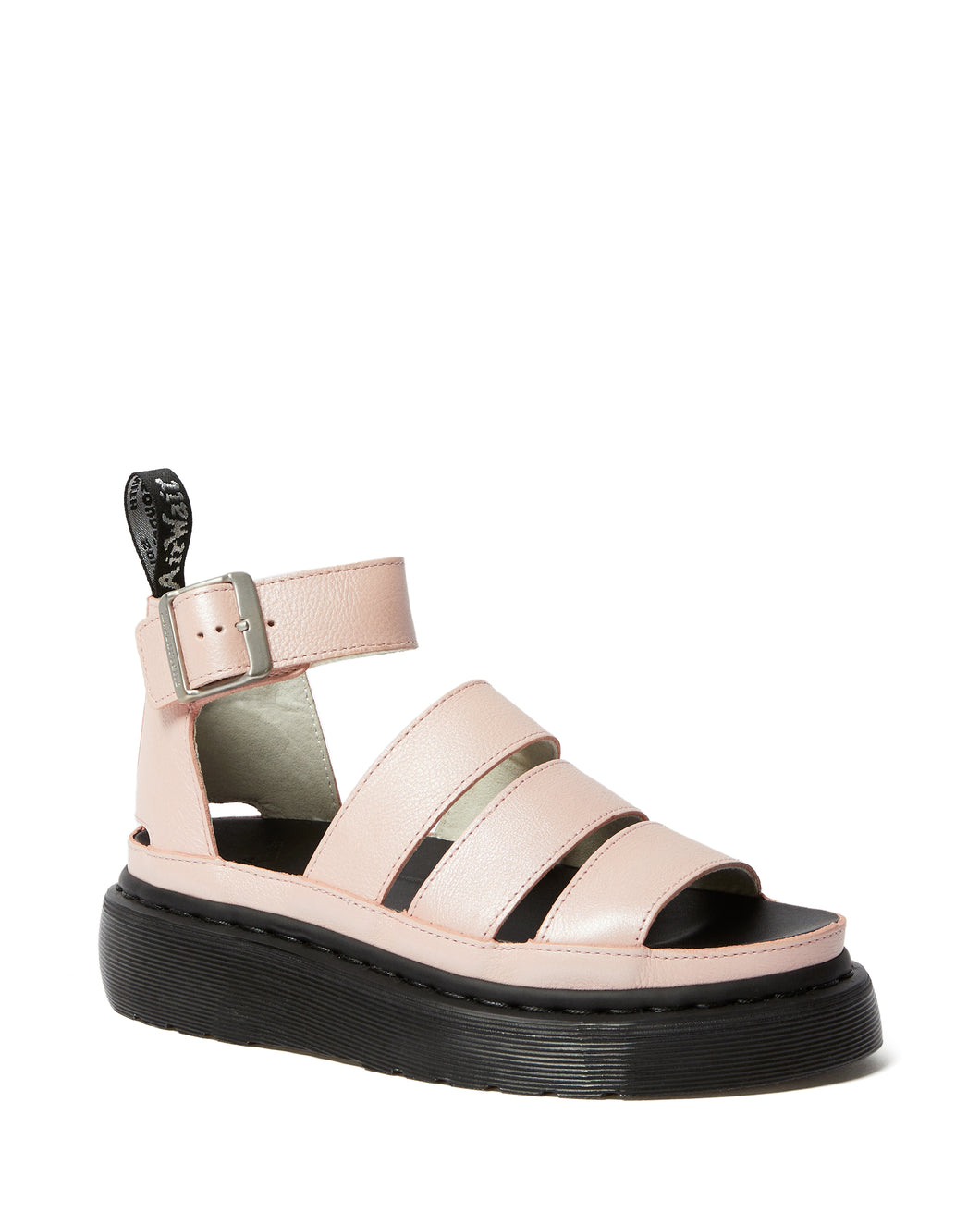 CLARISSA ll METALLIC LEATHER PLATFORM SANDAL