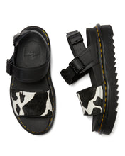 Load image into Gallery viewer, VOSS Animal Print Leather Strap Sandals