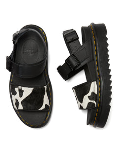 VOSS Animal Print Leather Strap Sandals