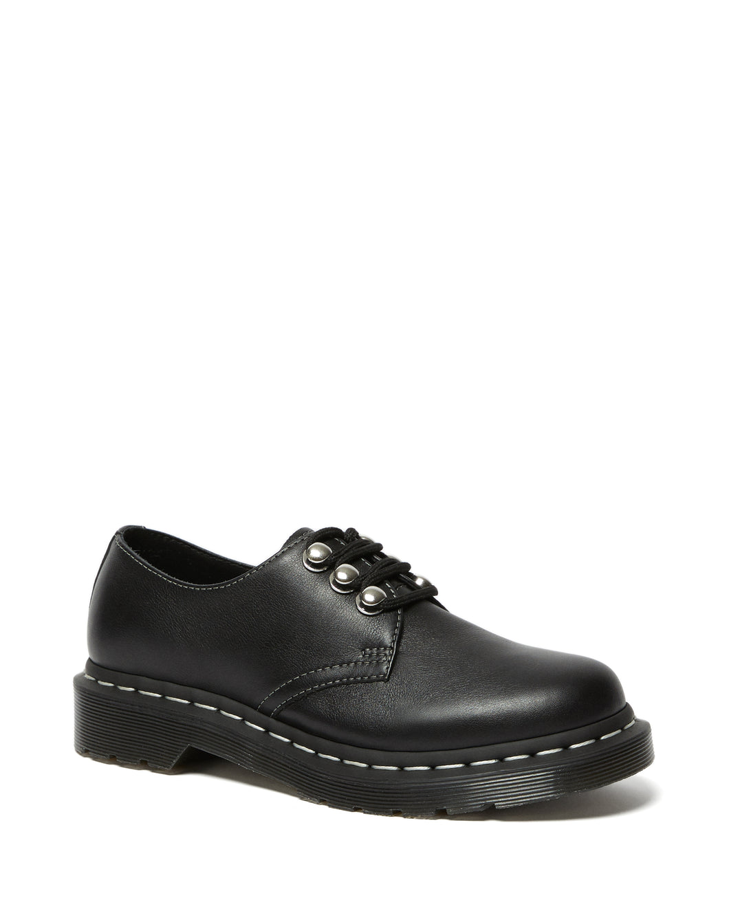 1461 Women's Hardware Leather Oxford Shoe (blk)
