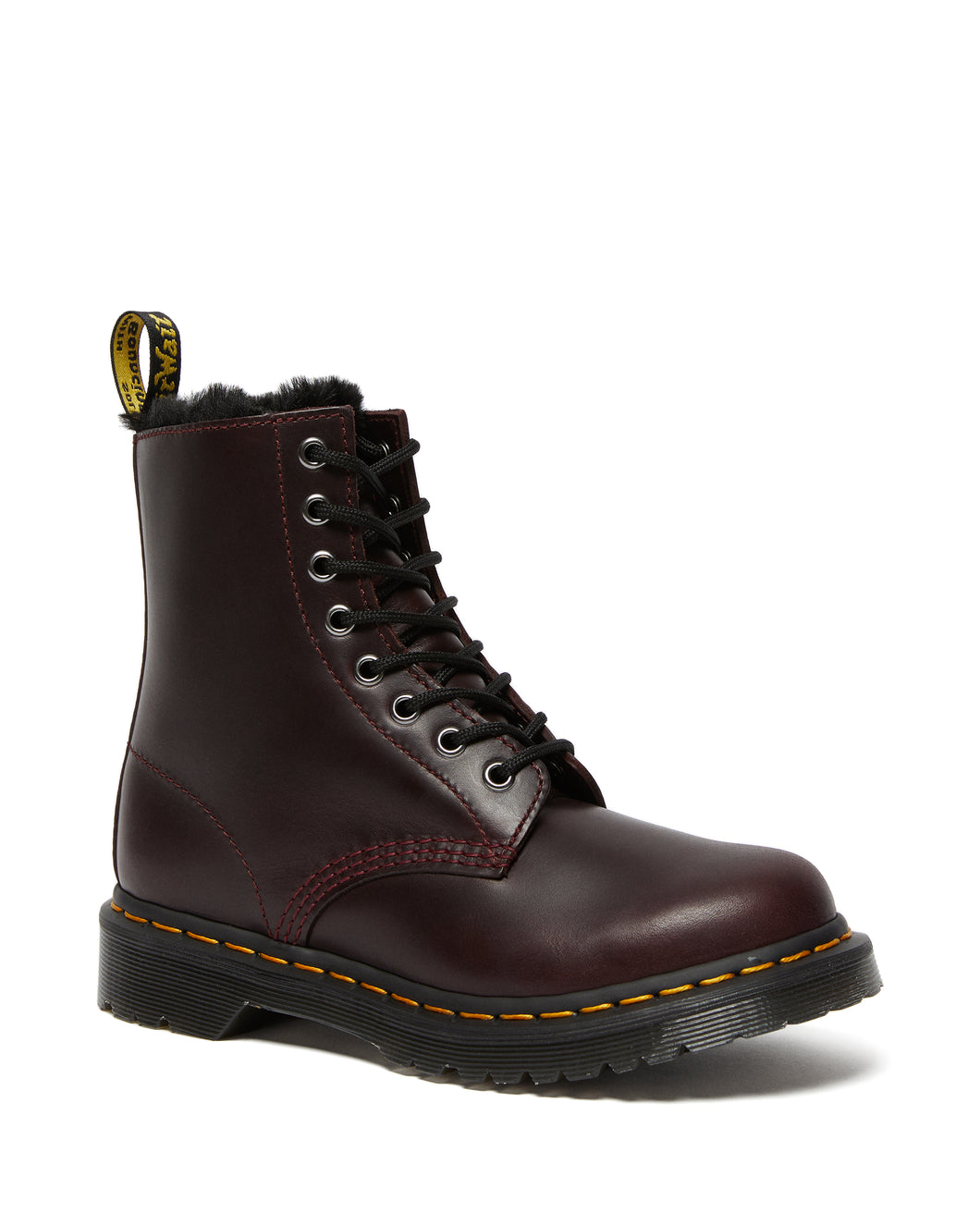 1460 Serena Faux Fur Lined Lace Up Boots (oxblood)
