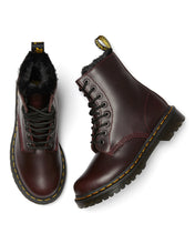 Load image into Gallery viewer, 1460 Serena Faux Fur Lined Lace Up Boots (oxblood)
