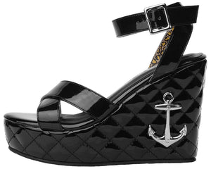 Quilted Sandal Wedge