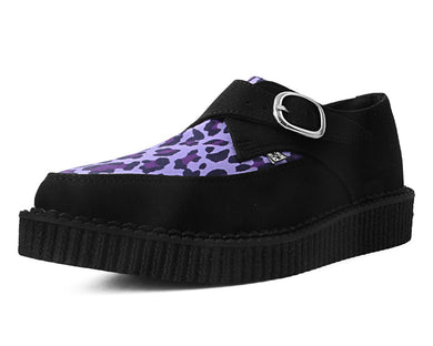 Leopard Vegan Faux Suede Creepers