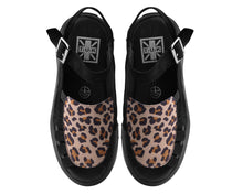 Load image into Gallery viewer, Leopard Print Vegan Platform Sandals