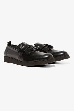 George Cox Tassel Loafer (blk)