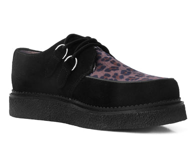 Black Suede & Leopard 1970 Original Creeper
