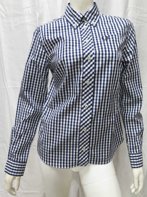 L/S Gingham Woven Shirt (French Navy)