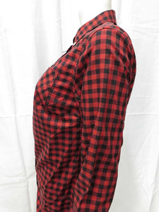 Gingham Button-Down L/S Shirt (rich rust)
