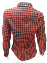 Load image into Gallery viewer, Gingham Button-Down L/S Shirt (rich rust)