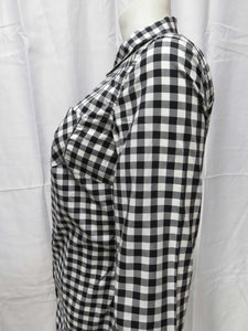 Gingham Button-Down L/S Shirt (blk)