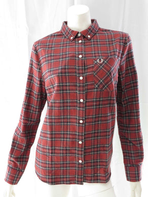 Boyfriend Fit L/S Tartan Flannel Shirt