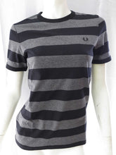 Load image into Gallery viewer, Stripe Ringer T-Shirt (blk)