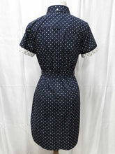 Load image into Gallery viewer, Polka Dot Shirt Dress (blue)