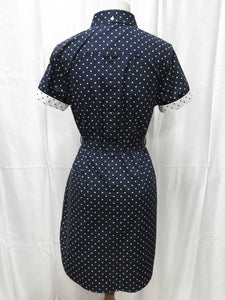 Polka Dot Shirt Dress (blue)