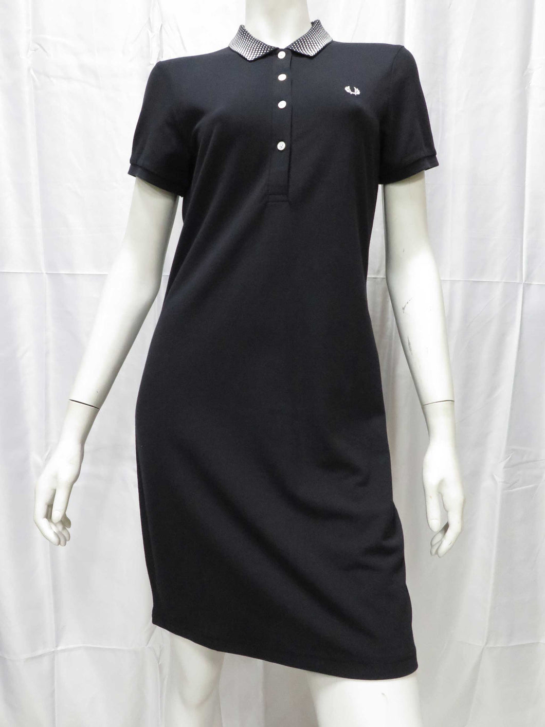 Optical Tennis Shirt Dress (blk)