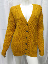 Load image into Gallery viewer, Aran Cardigan (gold)