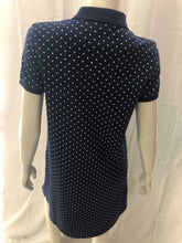 Load image into Gallery viewer, Polka Dot A-Line Dress (blue)