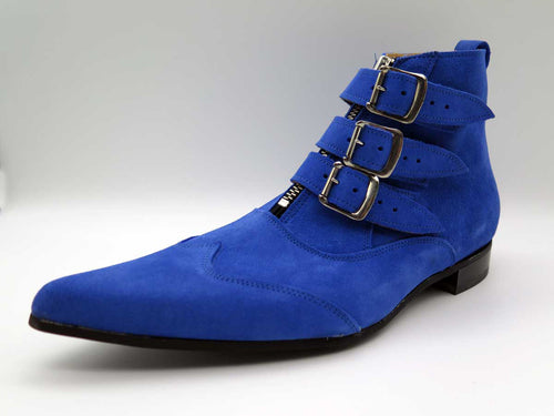ROYAL JACK 3-STRAP SUEDE ZIP BOOT