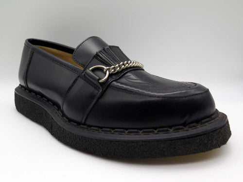 BLACK & BULL CHAIN LOAFER