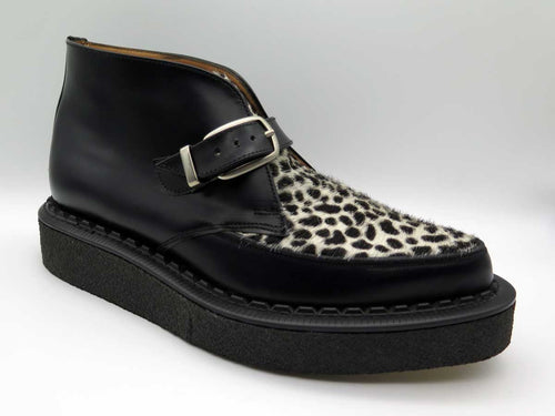 LEOPARD LEATHER CHUKKA CREEPER BOOT