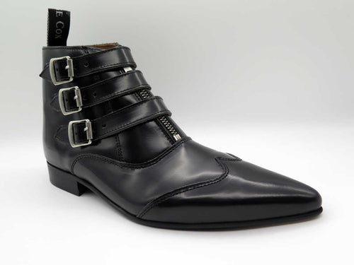 BLACK JACK 3-STRAP ZIP BOOT