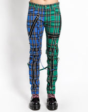 Load image into Gallery viewer, SPLIT LEG PLAID BONDAGE PANT