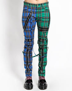 SPLIT LEG PLAID BONDAGE PANT