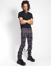 Load image into Gallery viewer, PLAID BONDAGE PANT (purple)