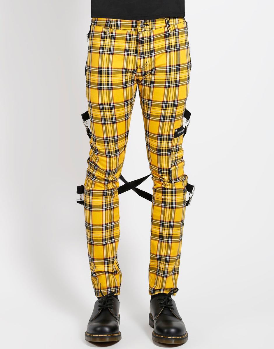 PLAID CHAOS PANT (yellow)